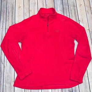 The North face Womens Pink zip up fleece Sz S
